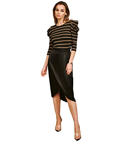 LAmade Langley Silky Woven Skirt (Black) Women