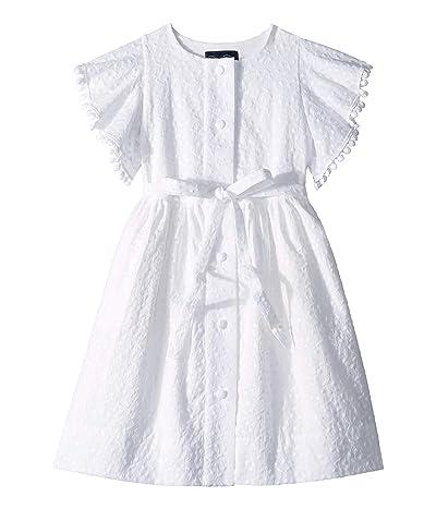 Oscar de la Renta Childrenswear Cotton Dress (Toddler/Little Kids/Big Kids) (White) Girl