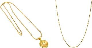Handicraft Kottage Fashion Jewellery for Women Golden & Gold (HK-PEND-908 + HK-ACM-5013)