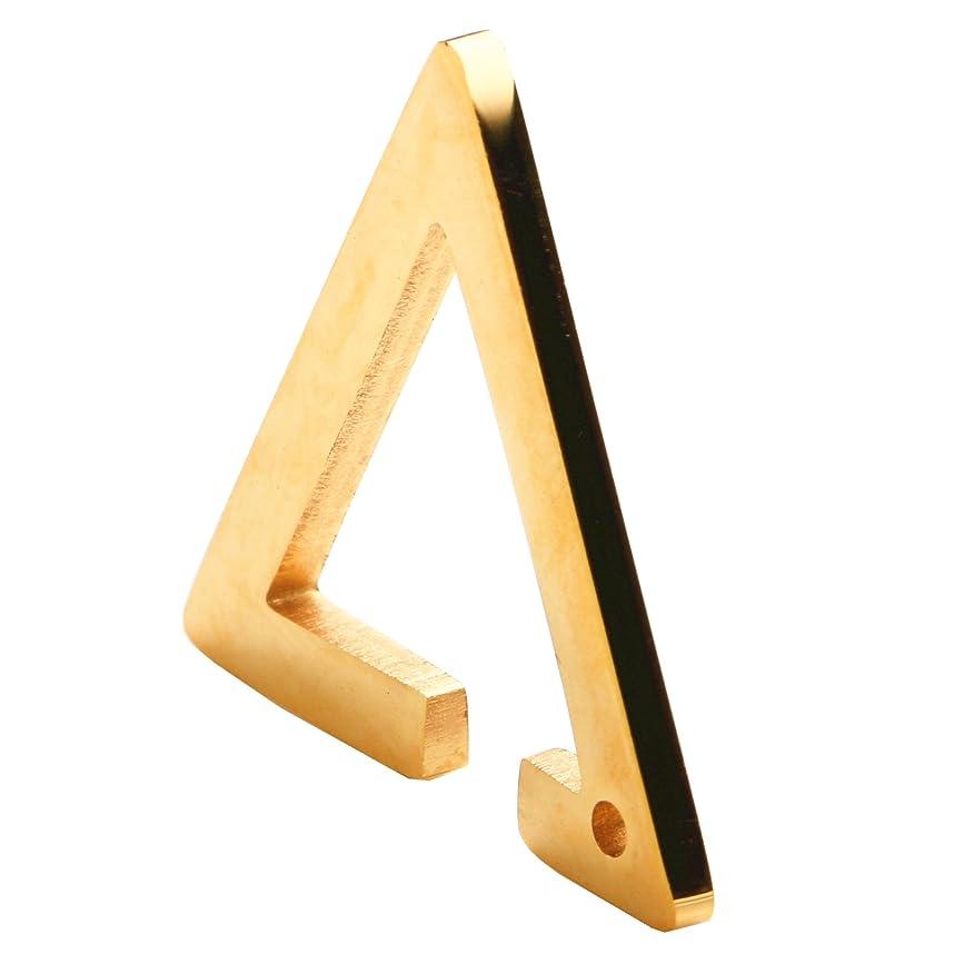 剥ぎ取る飲食店忘れられない「silverKYASYA」ステンレス素材 三角イヤーカフ トライアングルイヤーカフ ゴールド シルバー ブラック ピンクゴールド イヤーカフ 三角形 メンズ レデース (ゴールド)