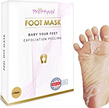 Foot Peel Mask 2 Pack Exfoliating Cracked Heel Treatment and Dead Skin Remover with Aloe Vera - Foot Mask to Repair Rough, Dry, Callused, Peeling Skin for Healthy Baby Soft Feet