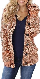Suéter de manga larga para mujer, de Asvivid, con cuello de tortuga, tejido grueso