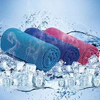 アポロン ひんやり 冷感タオル UVカット 3枚セット 熱中症対策 スポーツタオル 高吸水 冷却タオル 軽量で持ち運びにも便利