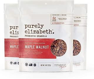 purely elizabeth Probiotic Gluten Free Granola, Maple Walnut, 3 Count