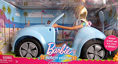 Barbie BEACH PARTY CRUISER Vehicle & DOLL Set - CAR & DOLL, Ice Chest & MORE! (2008)