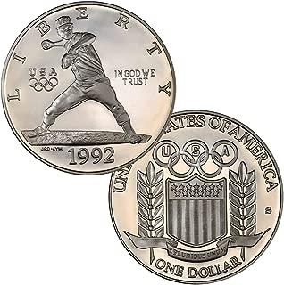 1992 S Olympic Baseball Dollar Proof $1 Brilliant Uncirculated