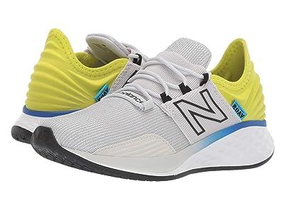 New Balance Kids Fresh Foam Roav Boundaries (Big Kid) (Light Aluminum/Sulphur Yellow) Boys Shoes