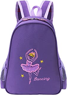 BAOHULU Toddler Backpack Ballet Dance Bag 9 Colors for Girls 2-8 Year (Dark Purple)