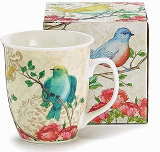 Burton & Burton Birds and Flower Blossoms Coffee Mug