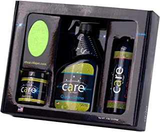 Cilajet Care Kit. The Best auto Paint Protection kit: Car-Shampoo 16 oz, Auto Quick-Shine 32 oz, Car Gel-Wax 8 oz, and 2 Microfiber Towels