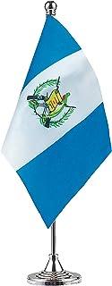 GentleGirl.USA Bandera de Guatemala Bandera de Guatemala Bandera de mesa, bandera de escritorio, bandera de oficina, bande...