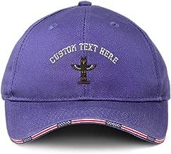 Custom American Flag Hat Totem Pole Embroidery Design Patriotic USA Baseball Cap