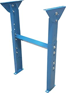 """Light Duty Conveyor Supports for 12"""" Wide Conveyors, Adjustable Height 23"""" to 38-1/4"""""""