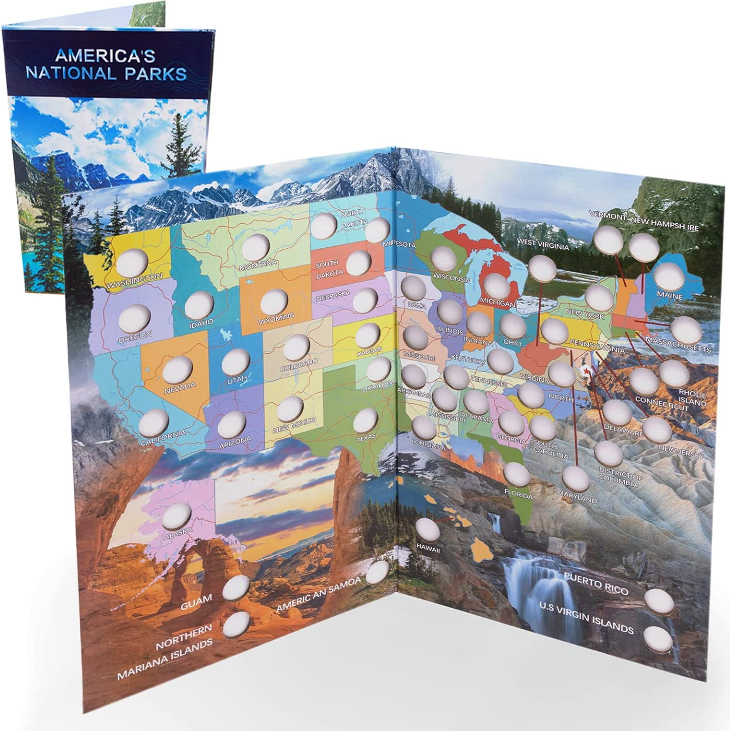 Today's only National Parks Quarter Coin Collection quality assurance Children Folder Map Book