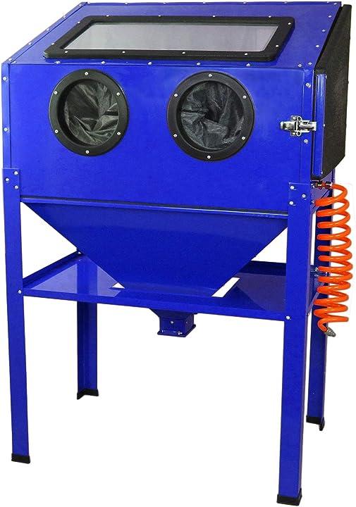 Cabina sabbiatrice professionale con cabina per sabbiatura da 220 litri maxblast B07N93ZW45
