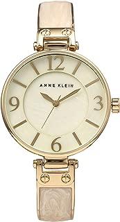 Anne Klein AK/2210IMGB - Reloj de pulsera para mujer, color dorado y marfil