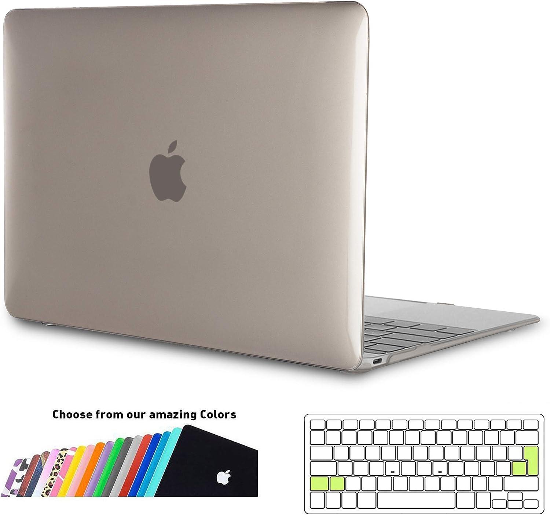 iNeseon Funda MacBook Pro 15 Mini Gris Carcasa Delgado Case Duro y Cubierta del Teclado para 2019 2018 2017 2016 MacBook Pro 15 Pulgadas con Touch Bar y Touch ID Modelo A1707//A1990