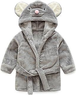 Gogokids Bebé Albornoz con Capucha Niños Niñas Pijama Ropa de Dormir para Infantil