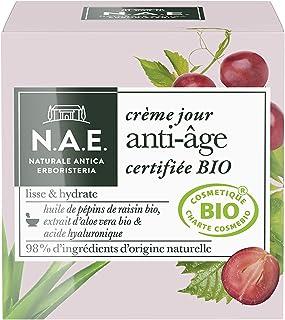 N.A.E. - Crème Jour Anti-Âge Visage - Certifiée Bio - Huile de Pépins de Raisin Bio, Extrait d'Aloe Vera Bio et Acide Hyal...