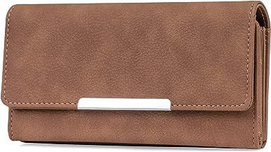 Mundi File Master Womens RFID Blocking Wallet Clutch Organizer With Change Pocket