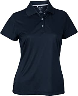 adidas Womens Climalite Textured Solid Golf Polo Shirt