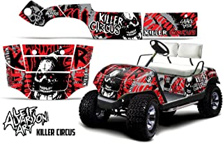 Savage Kits Vinyl Graphic Decal Kit for Yamaha Golf Cart 1995-2006 - Killer Circus Red