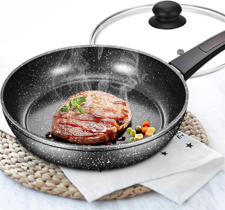 Pan antiadhésif Oeuf Petit Artifact Steak Poêle Pancake Pot Poêle à gaz à usage domestique utiliser la cuisine Pot casseroles de cuisine Pan (Color : 28cm with lid) 16cm