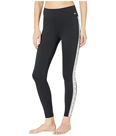 Nike One Tights (Black/Particle Grey/White/White) Women