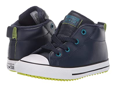 Converse Kids Chuck Taylor(r) All Star(r) Street Warmth Boot Mid (Infant/Toddler) (Obsidian/Green Abyss/Bold Lime) Boys Shoes