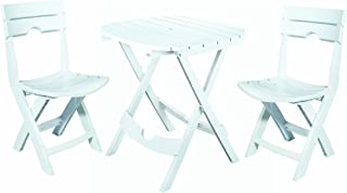 quik fold white 3 piece patio cafe set