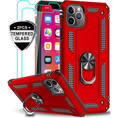 Military-Grade Phone Case with Kickstand for iPhone 6s Plus iPhone 6 Plus Case with 2PCS Tempered Glass Screen Protector LeYi Compatible for iPhone 8 Plus Case iPhone 7 Plus Case Midnight Green