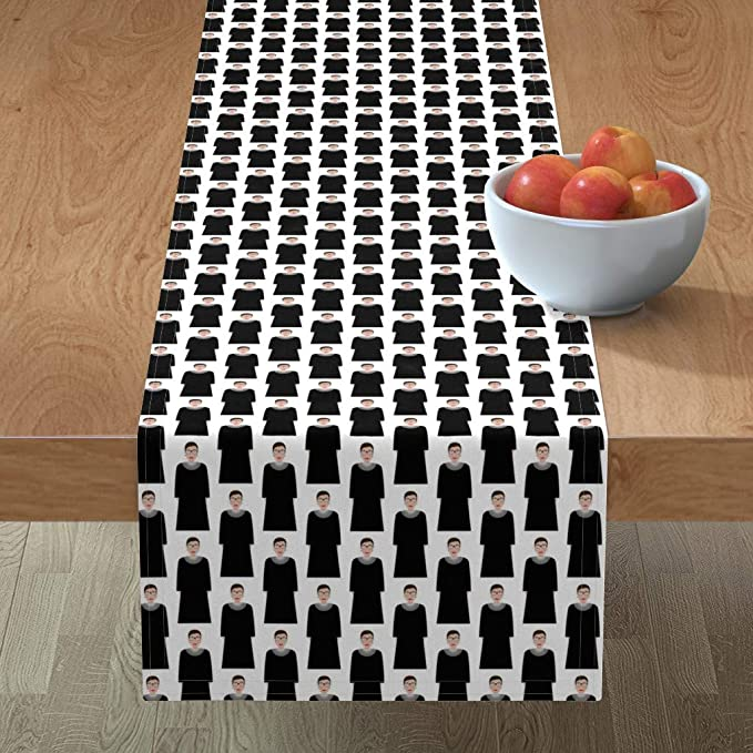 Amazon Com Table Runner Ruth Bader Ginsburg Rbg Supreme Court Judge Justice United States Feminist By Katerhees Cotton Sateen Table Runner 16 X 72 Home Kitchen