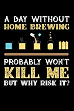 A Day Without Home Brew Probably Won't Kill Me But Why Risk It?: 100 page Blank lined 6 x 9 journal to jot down your ideas...
