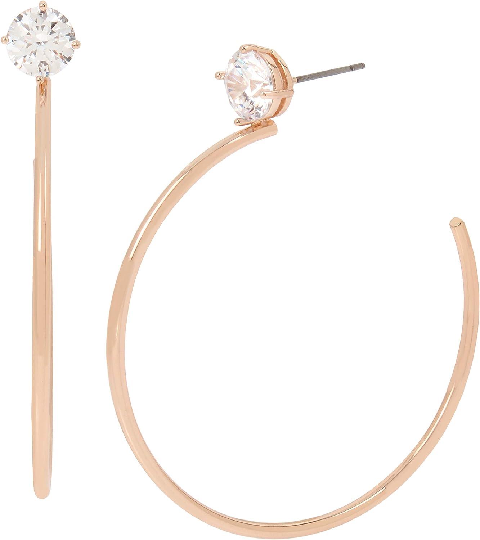 Jessica Simpson CZ Stone Hoop Earrings