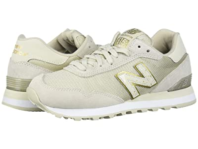 New Balance Classics WL515v1 (Oyster/Gold Metallic Suede/Mesh) Women