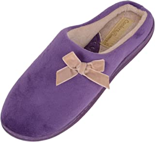 ABSOLUTE FOOTWEAR Ladies/Womens Slip On Slippers/Mules/Indoor Shoes with Attractive Bow Design