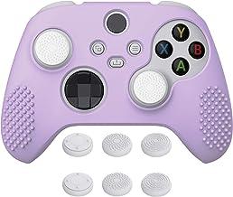eXtremeRate Capa de silicone antiderrapante PlayVital malva roxa 3D cravejada para controle Xbox Series X, capa protetora ...