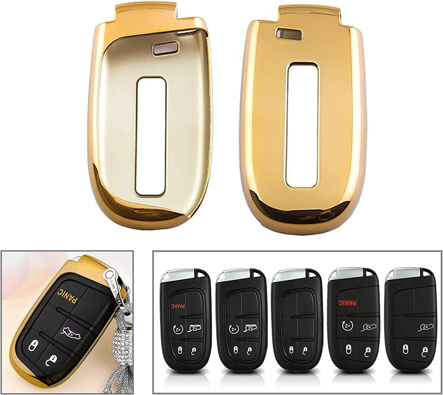 Raleigh Mall Xotic Tech Gold Soft TPU Remote Smart Cover Case Fob Key Manufacturer regenerated product Compati