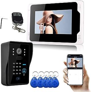 Visiophone Sans Fil, KKmoon® Tuya WiFi 7 pouces écran Tactile Sonnette Numérique 1080P Haute Définition Intercommunication...