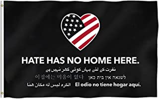Hate Has No Home Here Official Flag, Barstool Sports, 3x5 Foot, Durable & Fade Resistant, Perfect for Tailgates Dorms College Football Fraternities Parties