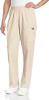 Scrub Zone Women's Durable 2-Pocket Elastic Waist Classic Fit Cargo Scrub Pant