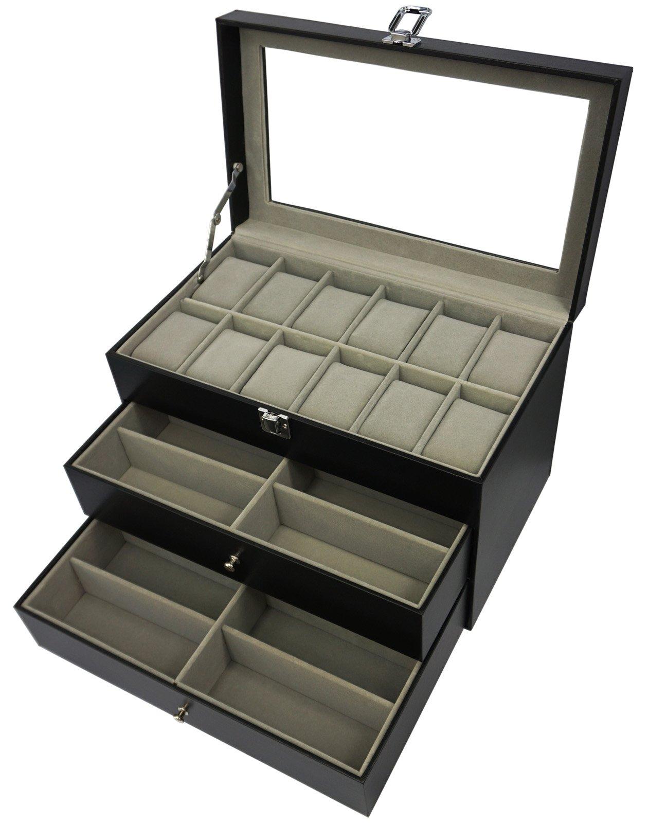 origia 手持12glasses and 12手表,太阳镜手表盒 EYEWEAR 配饰展示盒收纳