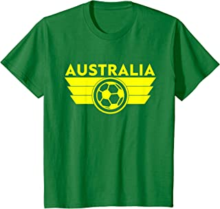 Kids Australia Kids Youth Soccer Jersey Style Football Socceroos T-Shirt