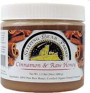 Cinnamon Raw Honey - Untreated Unprocessed Creamy Raw Honey w/ Certified Organic Cinnamon - Sleeping Bear Farms