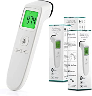 3 Pack Forehead Thermometer, Digital Infrared Non-Contact Temporal with Instant Accurate Reading,Fever Alarm and Memory Function – Ideal for Babies, Infants, Children, Adults, Indoor,Outdoor (White)