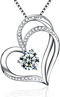 with 18 Rolo Chain 12mm x 10mm 14k White Gold with White CZ Accented Mini Heart Charm Pendant