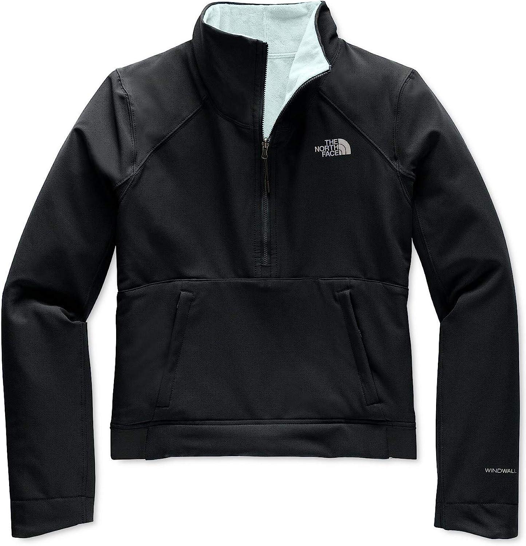 The North Face Women's Shelbe Raschel Reversible Fleece-Lined Pullover blk