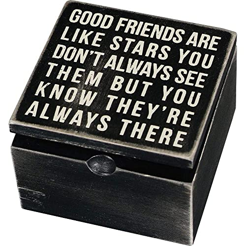 Primitives By Kathy Classic Hinged Wood Box 4 X 775 Inches Good Friends
