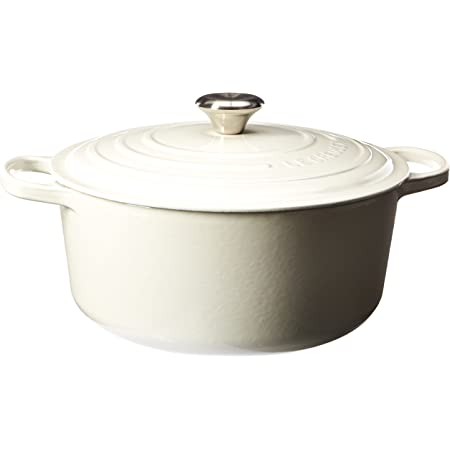 Le Creuset Enameled Cast Iron Signature Round Dutch Oven, 7.25 qt., White