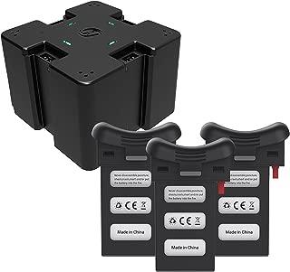 Holy Stone 3.7V 1000mAh Lipo 4in1充電器1個とバッテリー3個セット バッテリー For Holy Stone HS110D 過充&放電保護機能付 2.5A 急速充電 マルチコプター スペアパーツセット